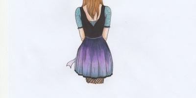 Das Bild zeigt ein Mädchen von hinten mit einer Sprechblase mit Smile, Sonne, Herzmit Friends, Kussmund.