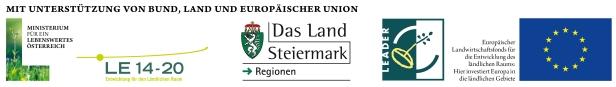 Logoleiste für EU Leader Projekte
