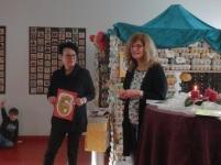 Frau Direktorin Streitmaier und Barbara Tolliner bei den Grußworten